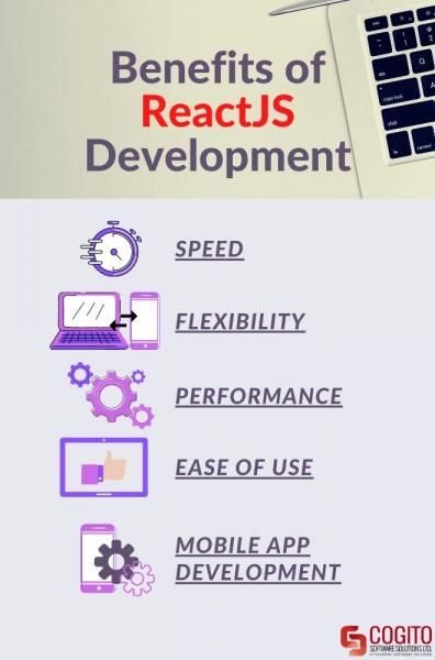 benefits of reactjs development infographic