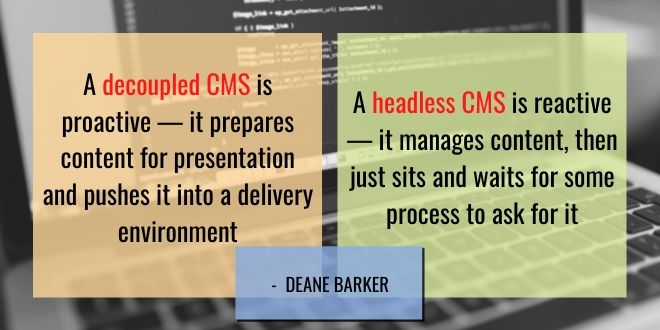 guide to headless CMS vs decoupled CMS development quotes