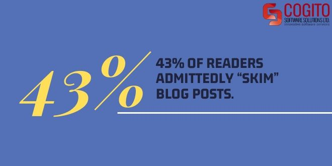 guide to content writing statistic readers skim posts