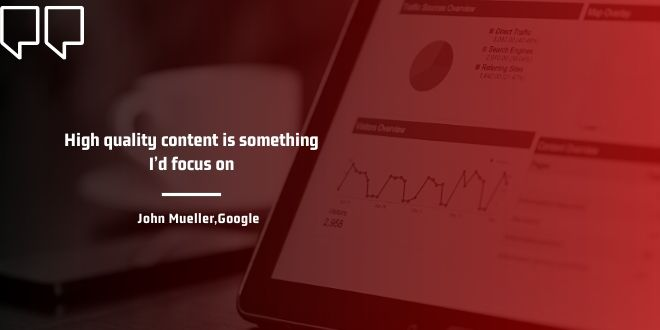 seo for new websites content quality is important